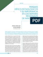 Parques científico-tecnológicos y su importancia en los sistemas regionales de innovación