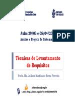 Aulas 29_03 e 05-04-17 Analise e Projeto de Sistemas I