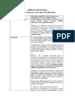 Resumen de Resolucion Del TRIBUNAL REGISTRAL Derecho Notarial Art. 35 Ley Del Notariado (1)