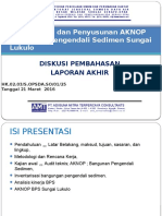 Tayangan Lap Akhir Audit Teknis & Penyusunan AKNOP BPS Lokulo