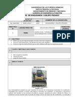 Informe Formato Aquinaria Pesada