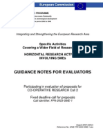 Guidance Notes for Evaluators
