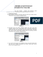 Cara Membuat Kontur Dan Menghitung Volume Dalam AutoCAD CIVIL 3D
