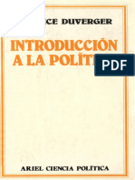 Introducción a la política - Maurice Duverger