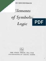 Elements of Symbolic logic