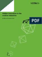 Hidden Innovation in the Creative Industries