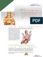 ram hanuman most important links