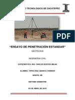 Ensayo de Penetración Estándar (C.C Tapia Díaz Jessica)