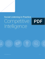 Social Listening Competitive Intelligence