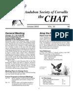 October 2003 Chat Newsletter Audubon Society of Corvallis