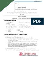 Quick Report Minggu 13 Kali Lamong Tanggal 1 April