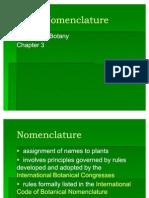 Chapter 3 Plant Nomenclature