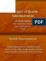 Principles of Health Admin