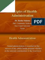 Principles of Health Admin
