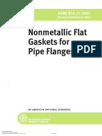 ASME B 16.21-2005 Non Metallic Gaskets