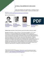 Periodismo en Bases de Datos y Buscabilidad de La Información