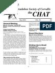 May 2004 Chat Newsletter Audubon Society of Corvallis