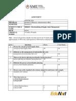 BBR603 –Merchandising &Supply Chain Management
