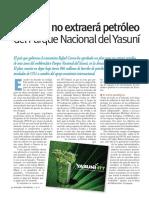 Ecuador no extraerá petróleo del Parque Nacional del Yasuní (Energías Renovables, diciembre 10, Ecuador)