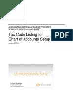 Tax Code Listing