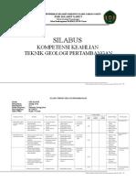 1. Silabus Teknik Geologi Pertambangan SMK Ma'Arif