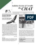 November 2005 Chat Newsletter Audubon Society of Corvallis