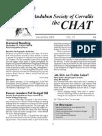 December 2005 Chat Newsletter Audubon Society of Corvallis