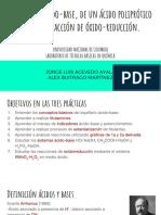 Titulaciones redox, de un ácido poliprótico, y neutralización ácido-base