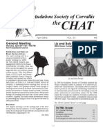 April 2006 Chat Newsletter Audubon Society of Corvallis