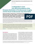 Echocardiography Acute Cardiovascular Care
