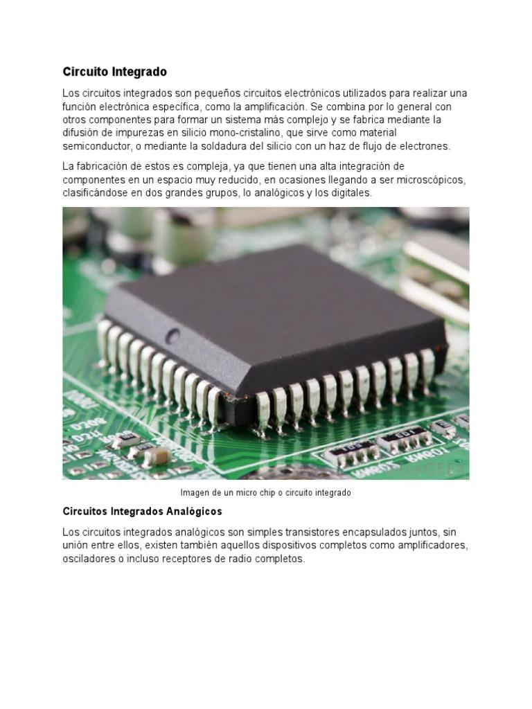 Circuito Integrado : Aplicacionde de circuitos integrados