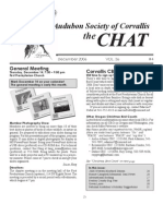 December 2006 Chat Newsletter Audubon Society of Corvallis