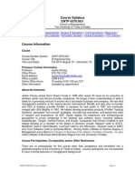 UT Dallas Syllabus for entp6370.0g1.10f taught by Jackie Kimzey (jxk092000)