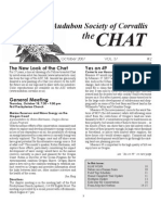 October 2007 Chat Newsletter Audubon Society of Corvallis