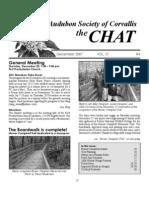 December 2007 Chat Newsletter Audubon Society of Corvallis