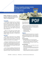 Testing as a Service for finance services