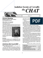 January 2008 Chat Newsletter Audubon Society of Corvallis