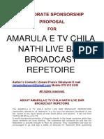 Corporate Sponsorship Proposal Television Program