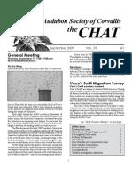 September 2008 Chat Newsletter Audubon Society of Corvallis