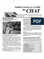 November 2008 Chat Newsletter Audubon Society of Corvallis