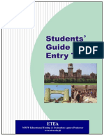 ETEA Entry Test Guide, Information, Sample Paper