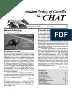 December 2008 Chat Newsletter Audubon Society of Corvallis