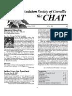 May 2009 Chat Newsletter Audubon Society of Corvallis