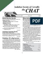 Summer 2009 Chat Newsletter Audubon Society of Corvallis