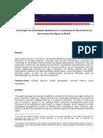 A formação de comunidades epistêmicas e a construção do Observatório da Governança das Águas no Brasil