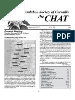 February 2010 Chat Newsletter Audubon Society of Corvallis