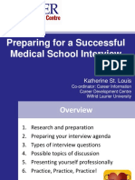 Preparing for Successful Medical School Interviews 2012
