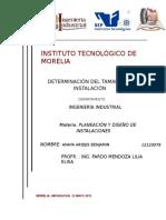 324710760 Determinacion Del Tamano de Una Instalacion 1