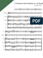 Sonatina No.2 Clementi in Stile Sinfonia No.1 Haydn