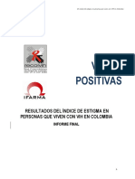 Índice de Estigma Discriminación Vih Colombia